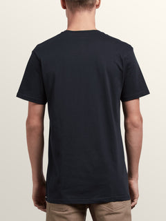 Stonar Waves Short Sleeve Tee In Black, Back View