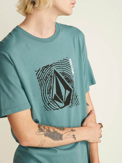 Stonar Waves Short Sleeve Tee In Pine, Alternate View