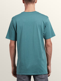Stonar Waves Short Sleeve Tee In Pine, Back View