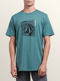 Stonar Waves Short Sleeve Tee In Pine, Front View