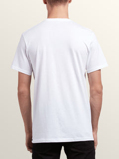 Stonar Waves Short Sleeve Tee In White, Back View