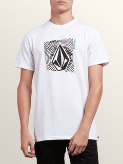Stonar Waves Short Sleeve Tee In White, Front View