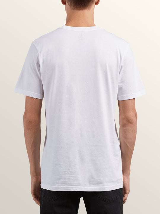 Radiate Short Sleeve Tee In White, Back View