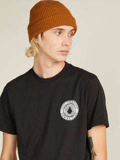 Volcomosphere Short Sleeve Tee In Black, Alternate View