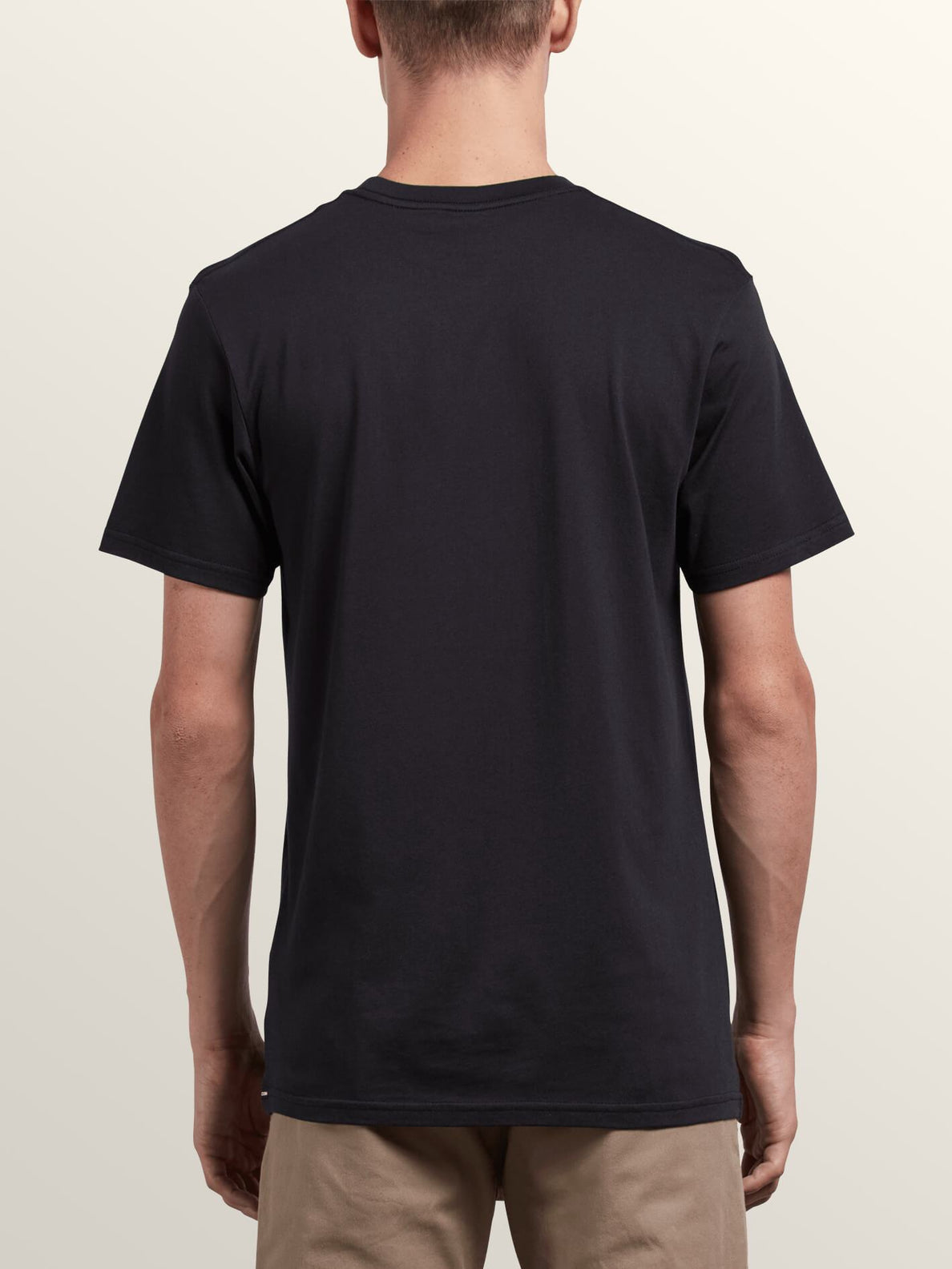 Extrano Short Sleeve Tee In Black, Back View