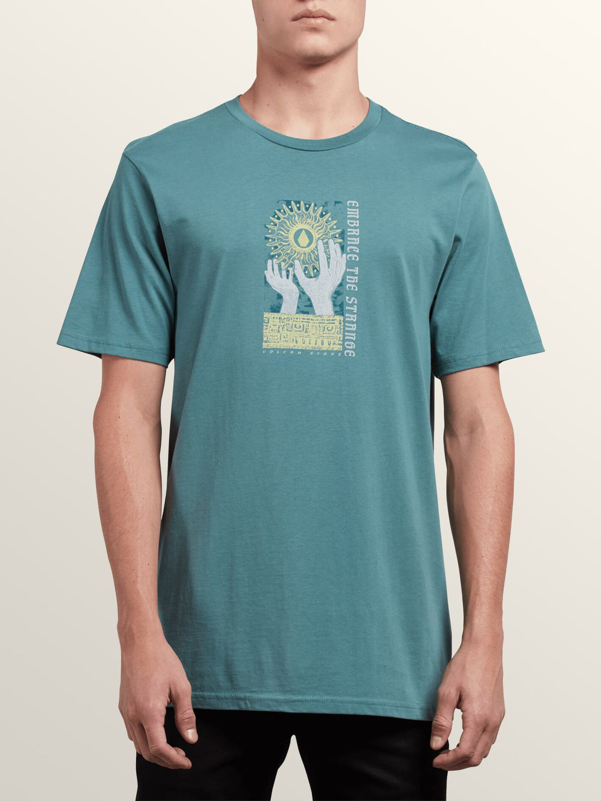 Extrano Short Sleeve Tee In Pine, Front View