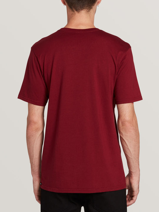 Solid Short Sleeve Tee - Cabernet (A5031807_CAB) [B]
