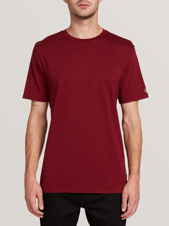 Solid Short Sleeve Tee - Cabernet (A5031807_CAB) [F]