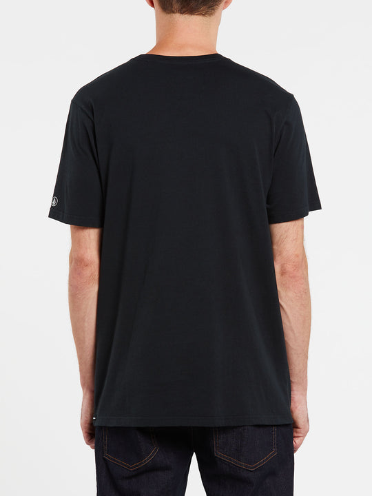 Solid Short Sleeve Pocket Tee - Black (A5031808_BLK) [B]