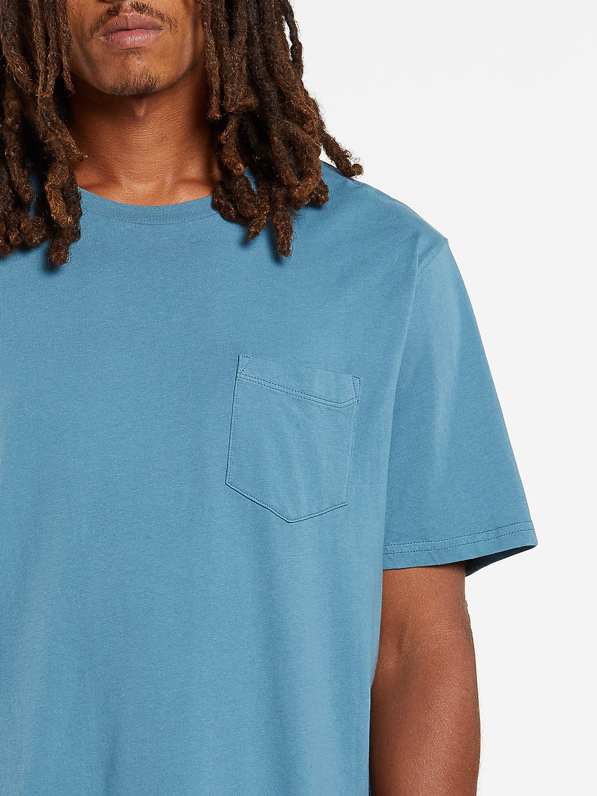 Solid Short Sleeve Pocket Tee - Horizon Blue (A5031808_HZN) [1]