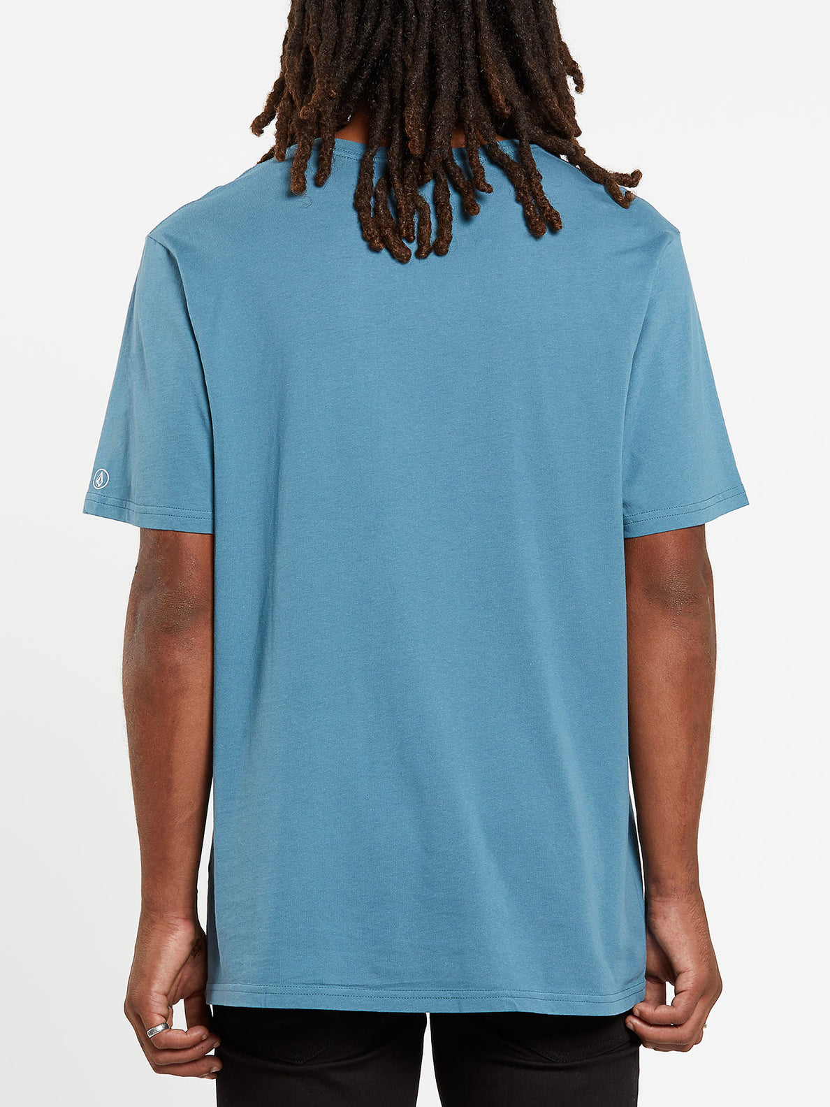Solid Short Sleeve Pocket Tee - Horizon Blue (A5031808_HZN) [B]