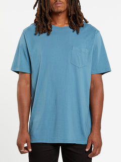 Solid Short Sleeve Pocket Tee - Horizon Blue (A5031808_HZN) [F]