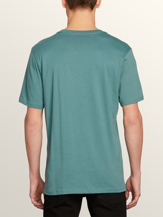 Classic Stone Short Sleeve Tee In Pine, Back View
