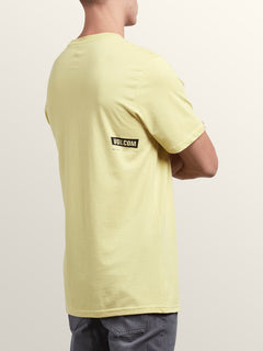 Deadly Stone Short Sleeve Tee In Acid Yellow, Back View