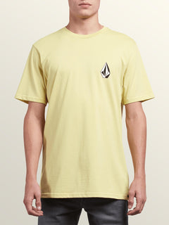 Deadly Stone Short Sleeve Tee In Acid Yellow, Front View