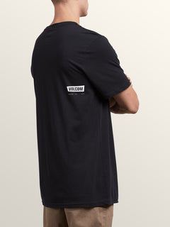 Deadly Stone Short Sleeve Tee In Black, Back View