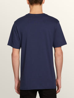 Deadly Stone Short Sleeve Tee In Navy, Back View