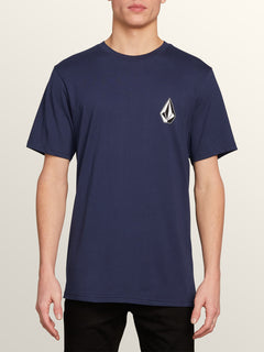 Deadly Stone Short Sleeve Tee In Navy, Front View