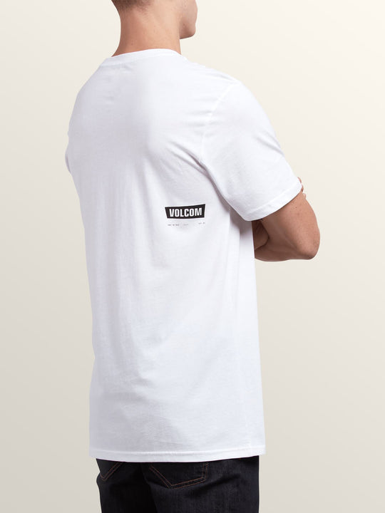 Deadly Stone Short Sleeve Tee In White, Back View