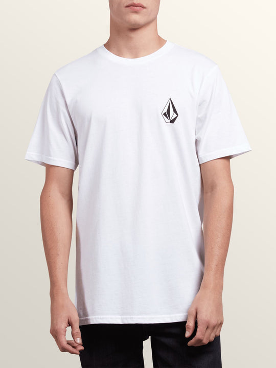 Deadly Stone Short Sleeve Tee In White, Front View