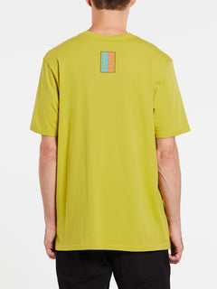 Embedded Face Short Sleeve Tee - Olive (A5032003_OLV) [B]