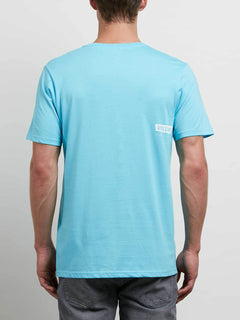 Deadly Stone Short Sleeve Tee In Aqua, Back View