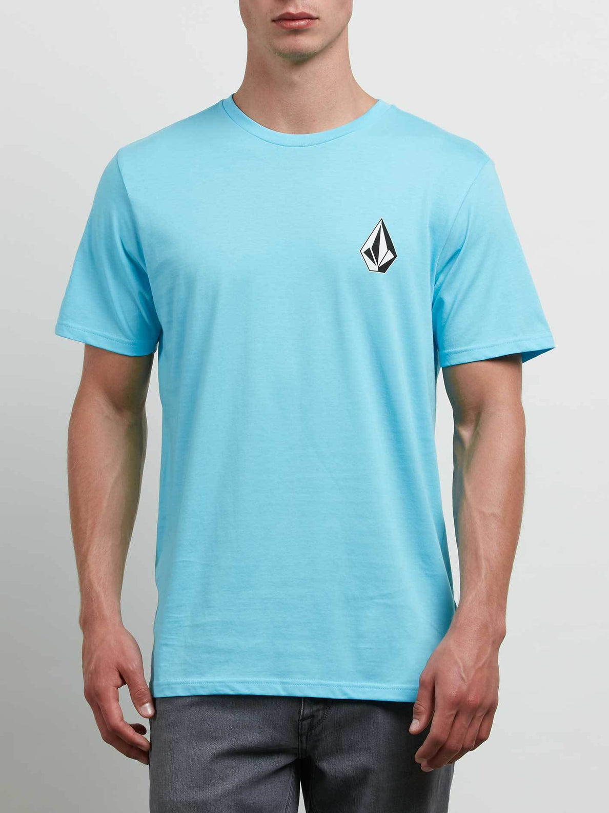 Deadly Stone Short Sleeve Tee In Aqua, Front View