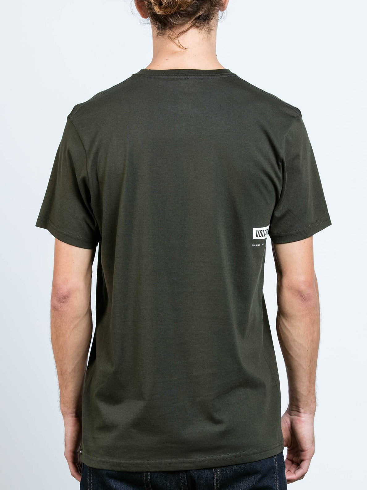 Deadly Stone Short Sleeve Tee In Dark Green, Back View