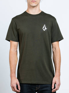Deadly Stone Short Sleeve Tee In Dark Green, Front View