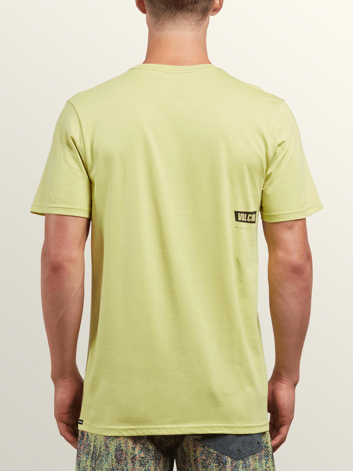 Deadly Stone Short Sleeve Tee In Shadow Lime, Back View