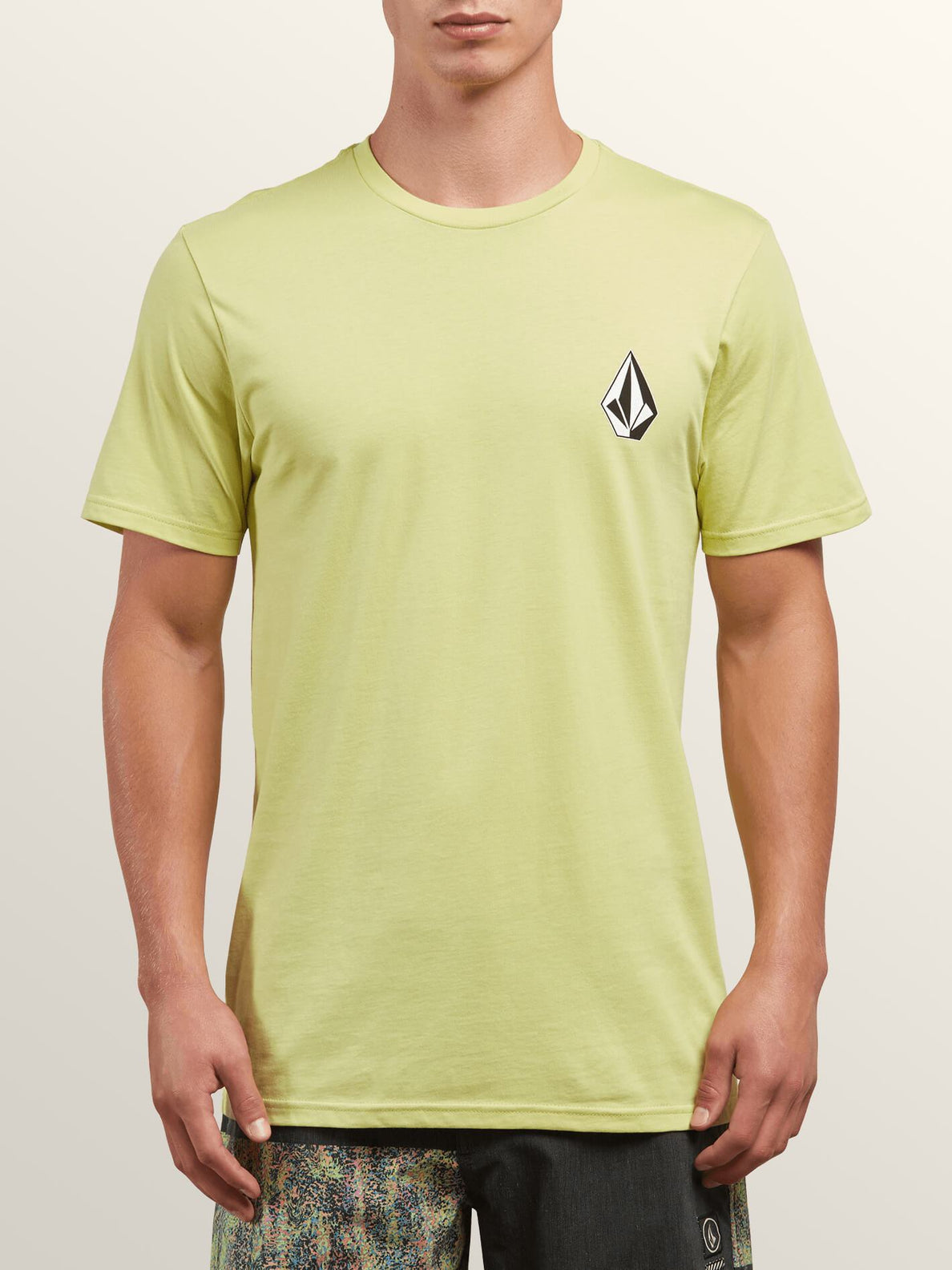 Deadly Stone Short Sleeve Tee In Shadow Lime, Front View