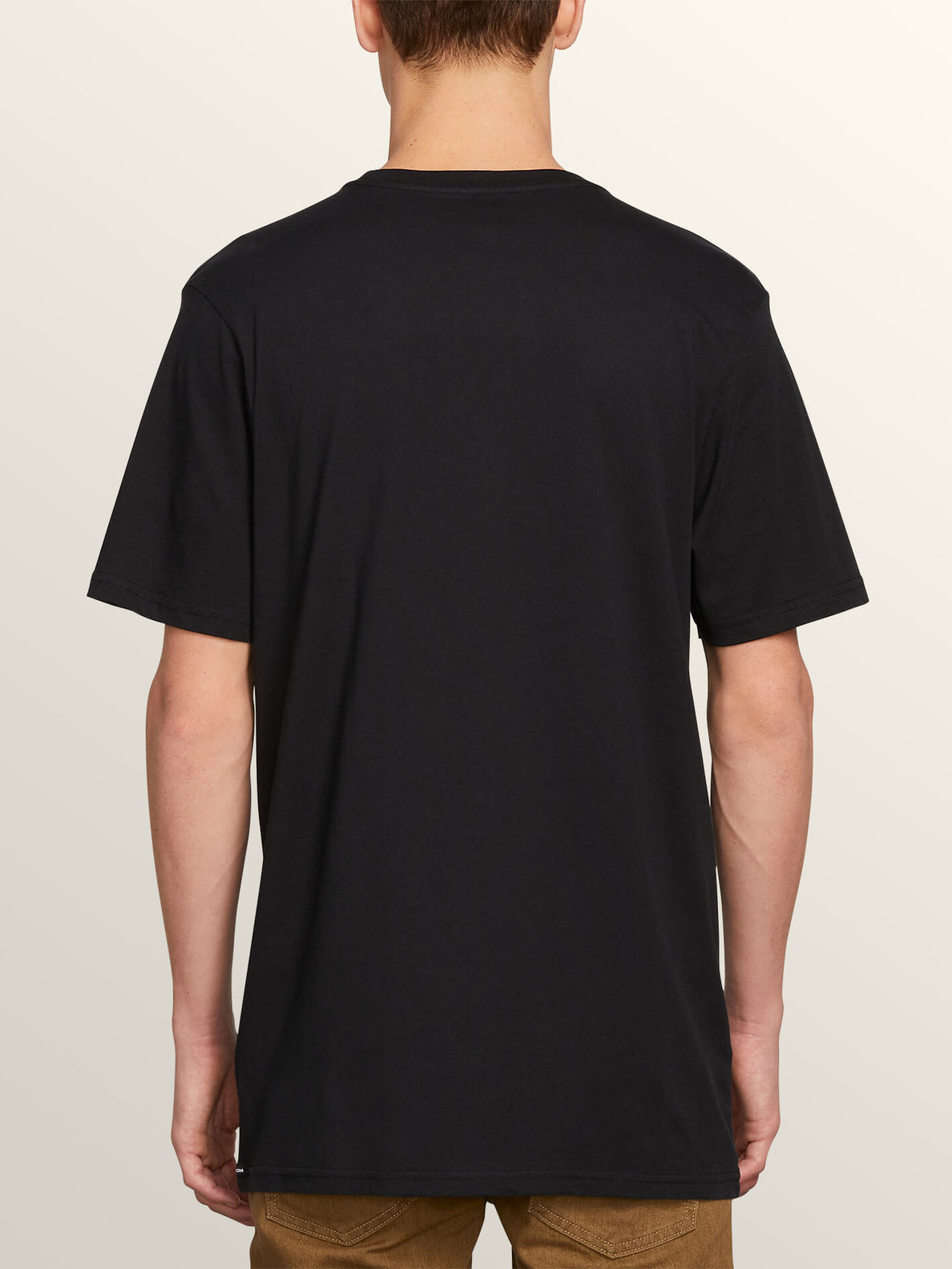 Oversight Short Sleeve Tee In Black, Back View