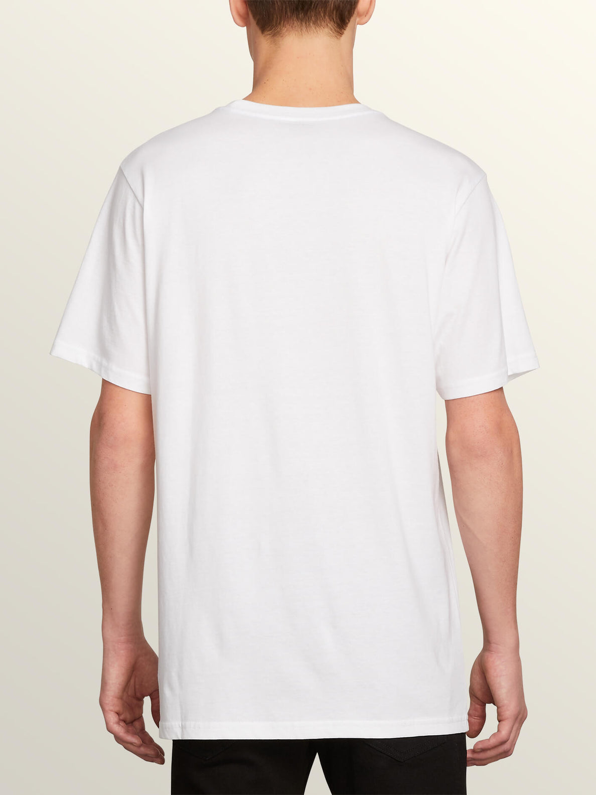 Block Out Short Sleeve Tee In White, Back View
