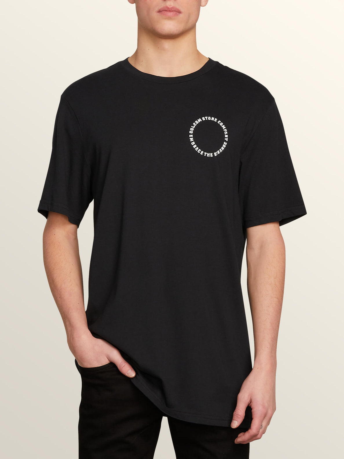Voleidospoica Short Sleeve Tee In Black, Front View
