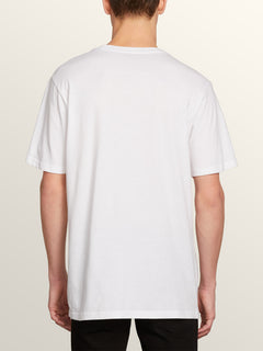 Vpp Lock Short Sleeve Tee In White, Back View