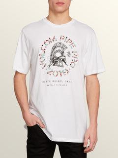 Vpp Lock Short Sleeve Tee In White, Front View