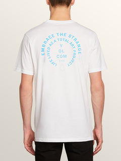 Key-ring Short Sleeve Tee In White, Back View
