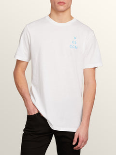 Key-ring Short Sleeve Tee In White, Front View