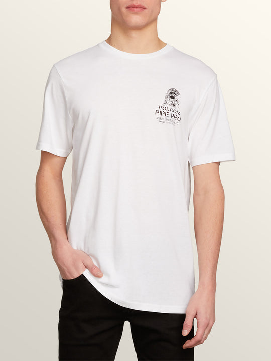 Vpp Pin Line Short Sleeve Tee In White, Front View
