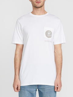 Spun Short Sleeve Pocket Tee - White (A5041910_WHT) [F]