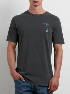 Burch Bird Tee In Black, Front View