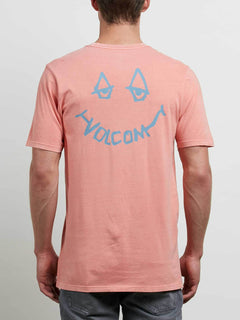 Chill Face Tee In Salmon, Back View