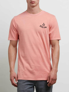 Chill Face Tee In Salmon, Front View