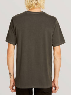 Systematic Short Sleeve Tee In Black, Back View