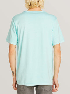 Systematic Short Sleeve Tee In Pale Aqua, Back View