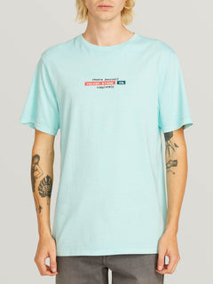 Systematic Short Sleeve Tee In Pale Aqua, Front View