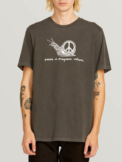 Peace Is Progress Short Sleeve Tee In Black, Front View