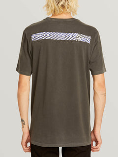 Noa Band Short Sleeve Tee In Black, Back View