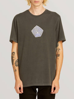 Noa Band Short Sleeve Tee In Black, Front View