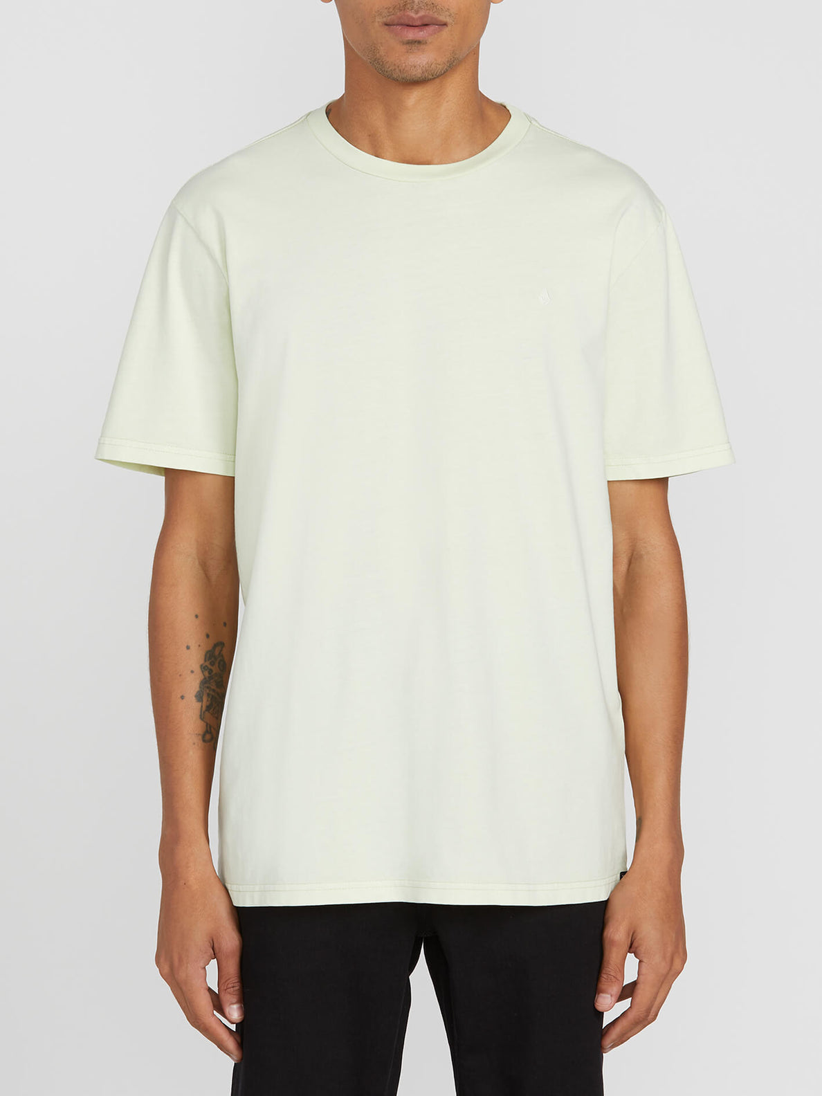 Solid Stone Short Sleeve Emblem Tee - Key Lime (A5211906_KEY) [F]